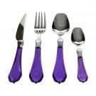 طقم أدوات مائدة ملونة